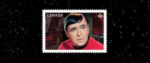 This stamp featuring Montgomery Scott was unveiled last week.