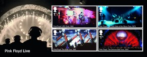 These four stamps feature some of Pink Floyd's notable live performances.
