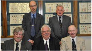Medal recipients. Back row (left to right): Per Gustafson, Eric Keefe. Front row (left to right): Peter Kelly, Mike J. Y. Roberts, Maurice Flack.
