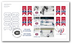 This three-stamp souvenir sheet was also issued by Canada Post in 2009.