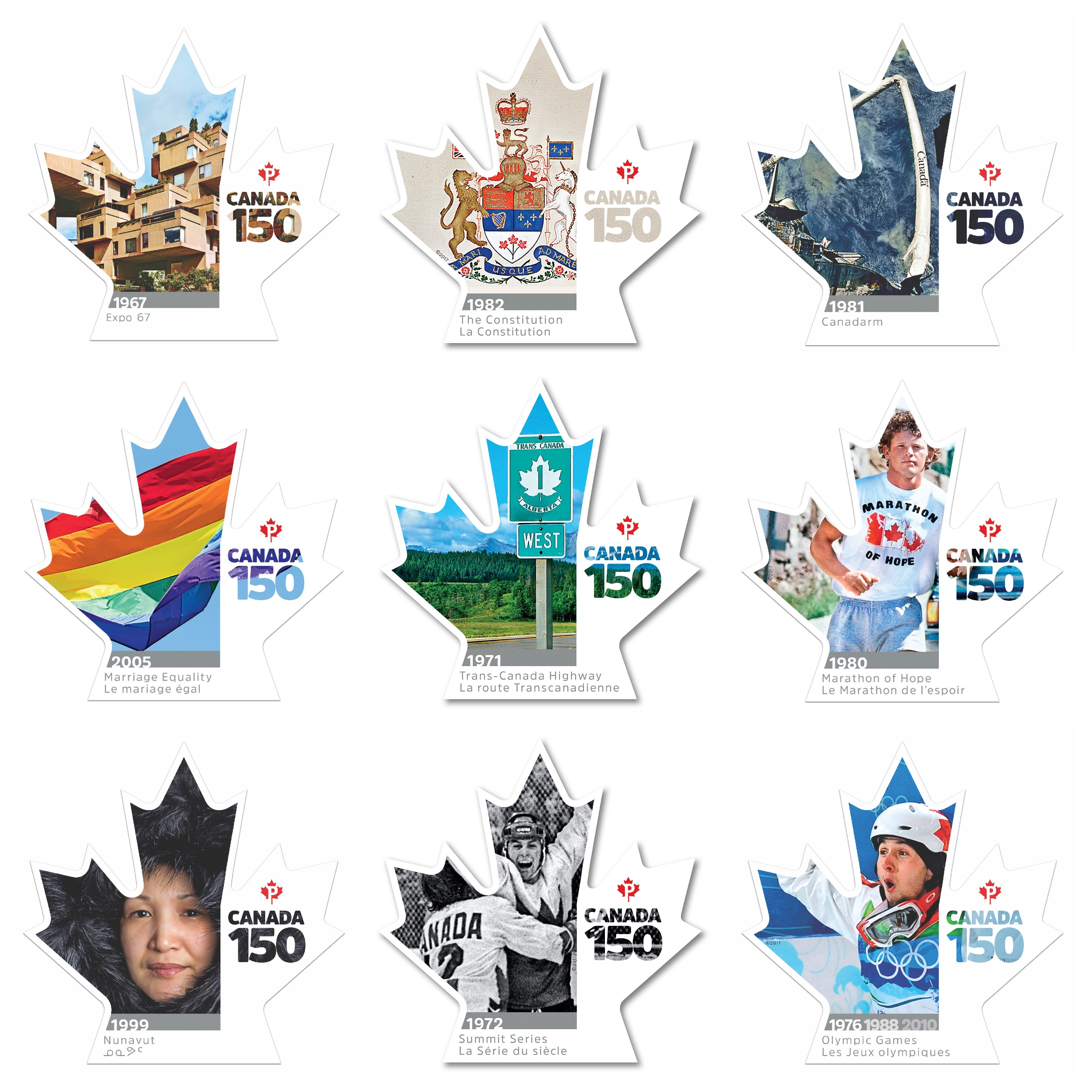 Canada 150 series of stamps
