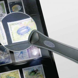 Frameless LED illuminated magnifier