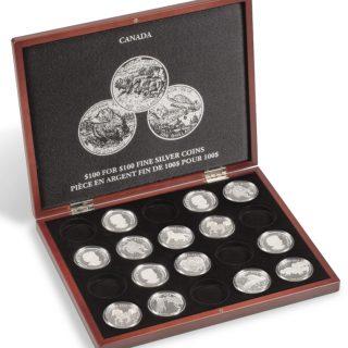 Presentation Case $100 for $100 Fine Silver Coins Canada